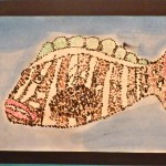 Year 4 students created paintings of Nassau Grouper utilizing a technique known as Pointillism.
